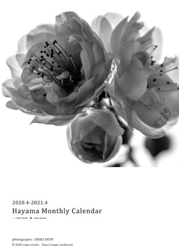2020年4月始まりカレンダー 販売中!